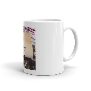 Broken News album cover mug
